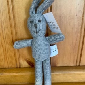 Abound Best Years Knitted Grey Bunny Baby Rattle