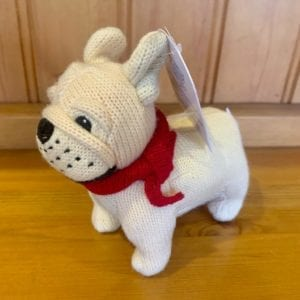 Abound Best Years Knitted French Bulldog Baby Rattle