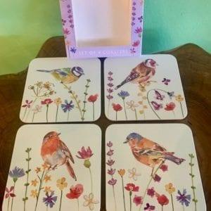 Joe Davies Garden Birds Coasters, Set of 4
