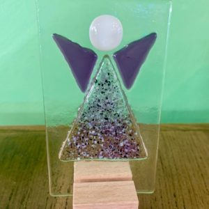 Jules Jules Glass Standing Guardian Angel (Wing Colour: Purple)