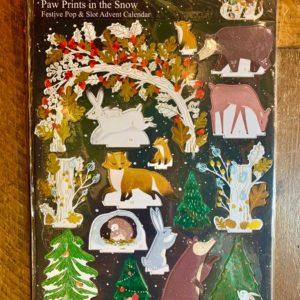 Roger la Borde:  Paw Prints Pop & Slot In The Snow Advent Calendar (POP072)